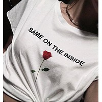 """Same On The Inside"" Rose Tee"