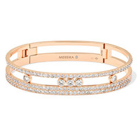 Messika - Move Romane 18-karat rose gold diamond bracelet