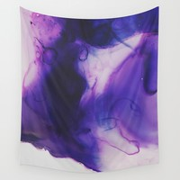 Violet Aura Wall Tapestry by duckyb