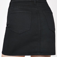 PacSun Double Waistband Denim Skirt at PacSun.com