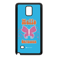 Sassy - Hello Gorgeous 10433 Black Silicon Rubber Case for Galaxy Note 4 by Sassy Slang