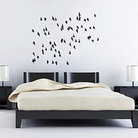 Wall Decals Flock Of Flying Birds Tropical Ocean Beach Nursery Wall Vinyl Decal Stickers Bedroom Murals