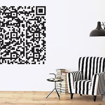 Wall Vinyl Sticker Decor Barcode Two-Dimensional Encrypted Information (n185)
