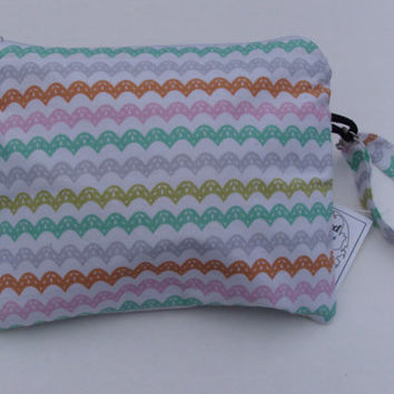 Wristlet Storage Cosmetics Quilted Tote Purse Pouch Bag Organizer Cotton
