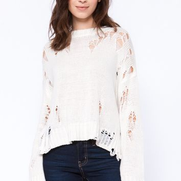 Knitted Ripped Sweater