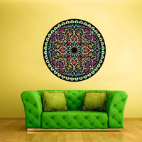 Color Wall Decal Vinyl Mural Sticker Art Decor Bedroom Flowers Mandala Menhdi Curly (col14)