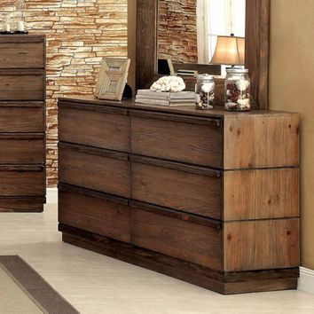 Coimbra  Sirius Chic Dresser, Transitional Style, Rustic Natural Tone