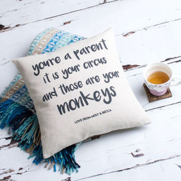 'You're A Parent' Personalised Cushion Cover