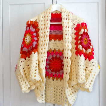 Hand Knitted Bohemian Cardigan