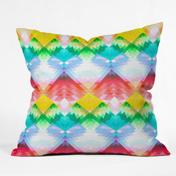 Deniz Ercelebi Crystal Rainbow Outdoor Throw Pillow