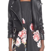 Missguided 'Zazula' Faux Leather Moto Jacket | Nordstrom