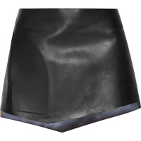 Esteban Cortazar - Leather mini skirt