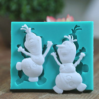 Frozen Olaf Silicone Heat Safe Polymer Resin Clay Fondant Chocolate Cake Decorating Mold