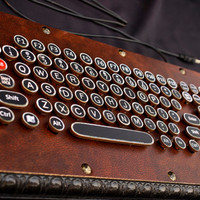 vintage style steam punk computer keyboard