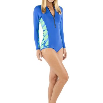 Surf One Piece Swimsuit - Sea Leaves