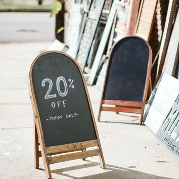 Repurposed Wooden Vintage Folding Chair Chalkboard