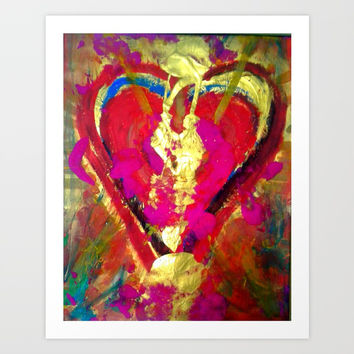 burning heart Art Print by  ART ELISA ELISA HOPP