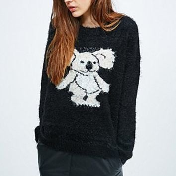 Minkpink Drop Bear Koala Jumper in Black - Urban Outfitters