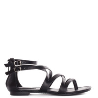 Jeta Gladiator Sandals - Black