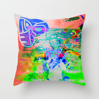 Time for Tabs Mazuni Stylee Throw Pillow by MADAME MAZUNI