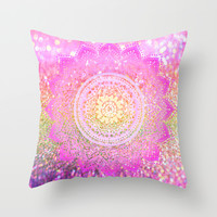 pink mandalas Throw Pillow by Haroulita