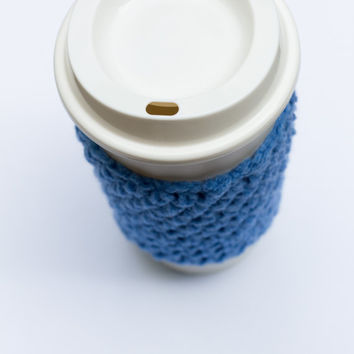Dark Blue Crochet Cup Cozy, crochet mug cozy, coffee mug cover, coffee sleeves, Christmas, crochet cozy, crochet mug cozy,mug cozy