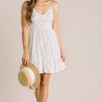 Evie White Polka Dot Mini Dress