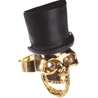 Rock N Roll Skull And Top Hat Ring From Chelsea Doll : TruffleShuffle.com