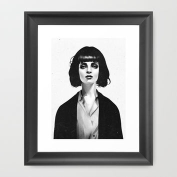 Mrs Mia Wallace Framed Art Print by Ruben Ireland
