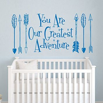 Wall Decals Quotes You Are Our Greatest Adventure Quote Sign Words Arrows Hipster Aztec Fashion Wall Vinyl Decal Stickers Bohemian Home Decor Bedroom Murals Kids Nursery