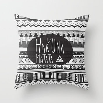 HAKUNA MATATA  Throw Pillow by Vasare Nar | Society6