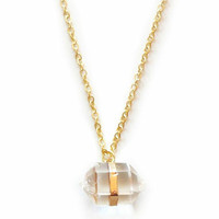 Crystal Right On Point Necklace