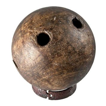 Pre-owned Rare Antique Lignum Vitae Wood Bowling Ball