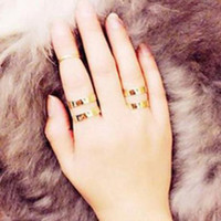 3pcs Hollow Out Gold Knuckle Rings