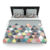 "Mareike Boehmer ""Nordic Combination"" Gray Abstract Woven Duvet Cover"