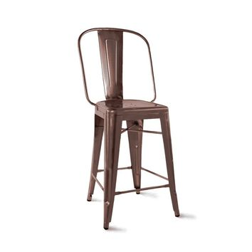 Dreux Rustic Matte Steel Counter Chair 24 Inch (Set of 4)