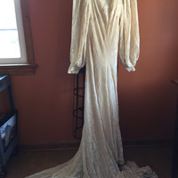 Vintage 1930 Wedding Dress