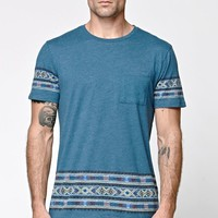 On The Byas Ramon Pocket Crew T-Shirt - Mens Tee - Blue