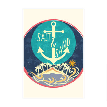 Beach Sand Salt Art Print