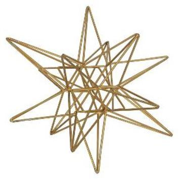 "Star Figurine Metal Tabletop Décor In Steel Finish - Gold (5.91""x6.1""x5.91"")"