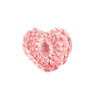 Crochet Hearts 10 pcs, 100% cotton quality yarn, pink, applique