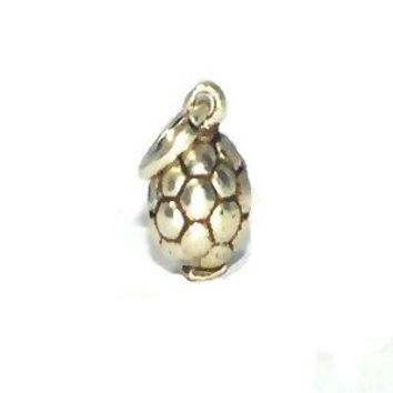 Sterling Silver small Soccer Ball charm pendant.