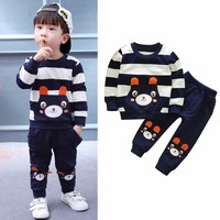 Puseky Bear Kids Clothes Baby Boys Clothing Set Toddler Boy Clothing Boutique Children Kids Boys Costume 2017 Autumn Outfits