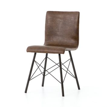 Brewster Dining Chair, Distressed Brown, Set of 2