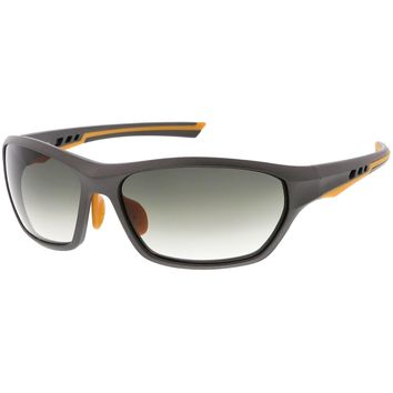 Sports TR-90 Wrap Sunglasses Ventilated Frame Polarized Lens 65mm