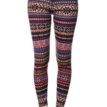 LA Hearts Nordic Sweater Leggings - Womens Pants - Multi