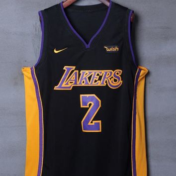 Los Angeles Lakers #2 Lonzo Ball Nike NBA Jerseys - Best Deal Online