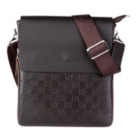 GUCCI men's shoulder bag, European and American export slanting bag, zipper, zipper, zipper, zipper