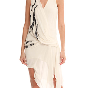 Helmut Lang Embroidered Dress