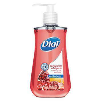 Dial DIA 02795CT DIA02795CT Antimicrobial Liquid Soap, 7 1/2 oz. Pump Bottle, Pomegranate and Tangerine, Rose (Pack of 12)